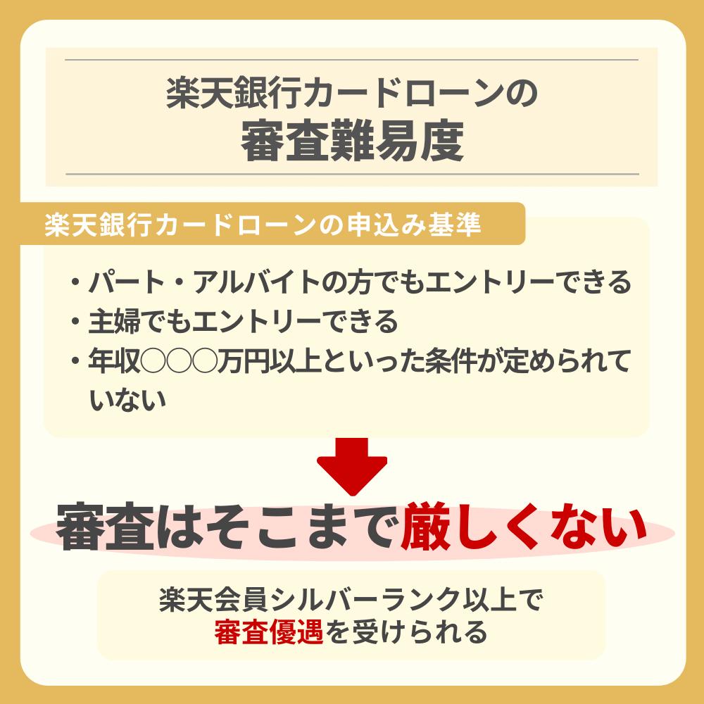 楽天銀行カードローンの審査難易度|審査優遇措置が存在する!